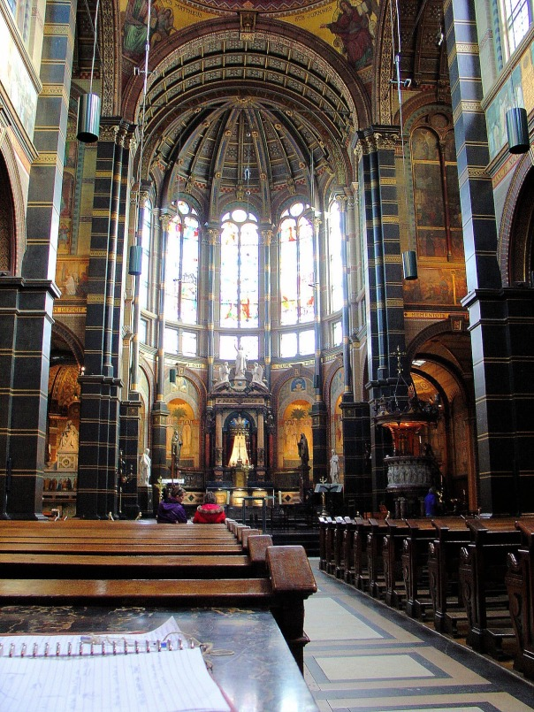 Netherlands Amsterdam St Nicholas interior nave